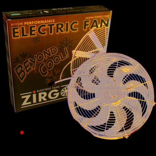 Zirgo 10220 16'' 3630 fCFM Ultra High Performance Radiator Cooling Fan by Zirgo