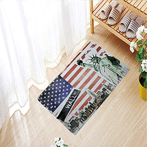 Outdoor Indoor Door Mats Thin Non Slip Carpets for Front Door Kitchen Bedroom Garden,31.5
