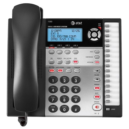 ATT1080 - ATT 1080 4-Line Expandable Corded Small Business Telephone with Digital Answering System (Corded Digital Answering System)