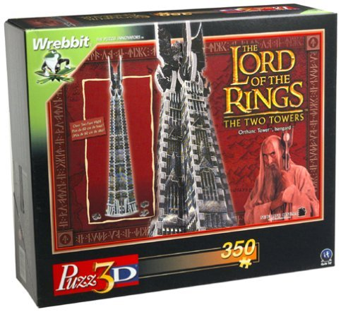 Lord of the Rings Orthanc 3-d Puzzle by Wrebbit by Wrebbit