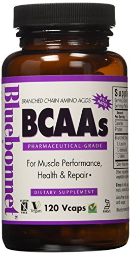 Bluebonnet Kosher Amino Acid - Bluebonnet BCAAS Vitamin Capsules, 120 Count