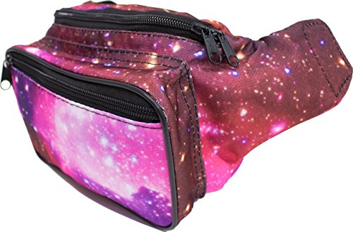 SoJourner Bags Outer Space Galaxy Rave Festival Fanny Pack (purple) (Cute Halloween Print Outs)