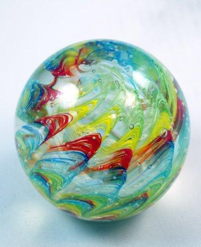 M Design Art Handcraft Glass Dolphin w/ White Sea Flower Sculpture XL 01