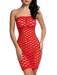 M_Eshop Sexy Lingerie Costumes Fishnet Chemise Babydoll Nighties Mini Dress