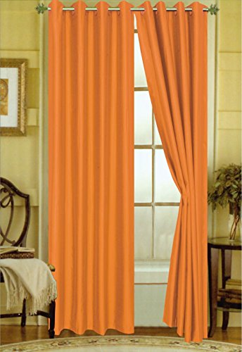 Editex Home Curtain Faux Silk Panel with Grommets, 108