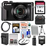 Cheap Canon PowerShot G7 X Mark II Wi-Fi Digital Camera with 64GB Card + Case + Flash + Battery & Charger + Tripod + Strap + Kit