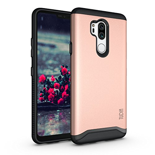 TUDIA LG G7 Case/LG G7 ThinQ case, [Merge Series] Heavy Duty Extreme Protection/Rugged with Dual Layer Slim Precise Cutouts Phone Case for LG G7, LG G7 ThinQ - Rose Gold