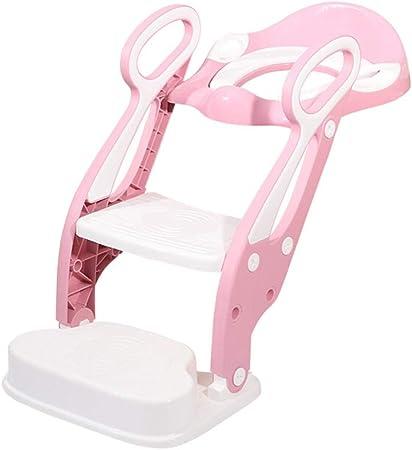CL- Taza del Inodoro - Inodoro para niños niña baño Escalera para niños niño pequeño Asiento para Inodoro Asiento para bebés Lavadora Orinal Grande (Color : Pink): Amazon.es: Hogar