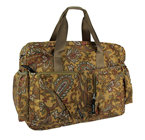Trend Lab Messenger - Trend Lab Paisley Brown Deluxe Duffle Diaper Bag, Paisley Brown
