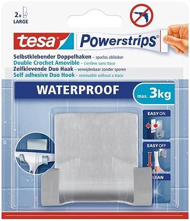 tesa Powerstrips® Waterproof Metall 59710 Doppelhaken