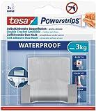 Tesa Powerstrips Double Crochet métal Waterproof + 4 Powerstrips Waterproof Métal