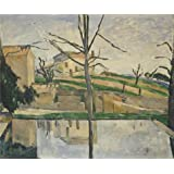 'The Pool at Jas de Bouffan,1878 By Paul Cezanne' oil painting, 10x12 inch / 25x31 cm ,printed on high quality polyster Canvas ,this Reproductions Art Decorative Prints on Canvas is perfectly suitalbe for Bedroom decoration and Home decoration and Gifts