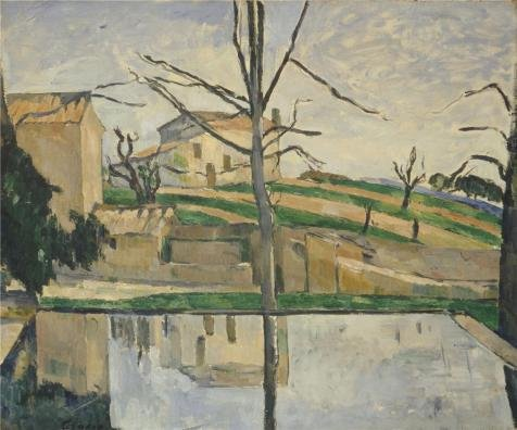 Oil Painting 'The Pool At Jas De Bouffan,1878 By Paul Cezanne' Printing On Perfect Effect Canvas , 12x14 Inch / 30x37 Cm ,the Best Kids Room Gallery Art And Home Gallery Art And Gifts Is This Beautiful Art Decorative Prints On Canvas