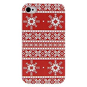 Mini - Red Clothing Style Back Case for iPhone 4/4S