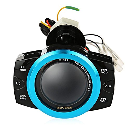 Alarm Security Motorcycle Anti Theft Audio System Stereo FM/TF/USB/SD/MP3 Waterproof