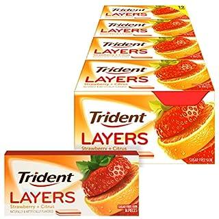 Trident Layers Grape & Lemonade Sugar Free Gum, 12 Packs of 14 Pieces (168 Total Pieces)
