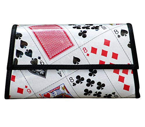 Trapezoid clutch / crossbody using playing cards - Free shipping - upcycled eco friendly art design vegan style recycled reclaimed salvaged handmade organic gift gifts las vegas bridge poker player