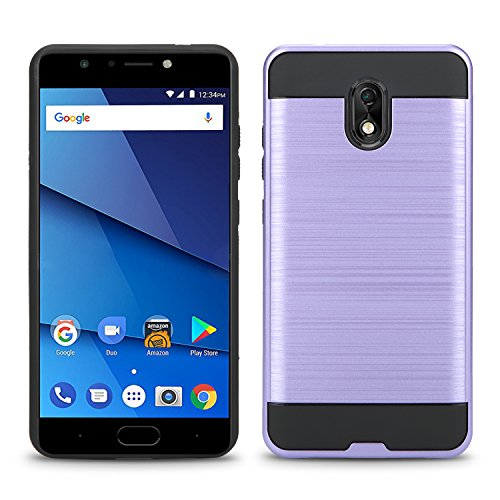 BLU Life One X3 Case, Slim Armor Hybrid Cover [Scratch/Dust Proof] Defender Dual Layer Shockproof Protection Case (VGC Light Purple)