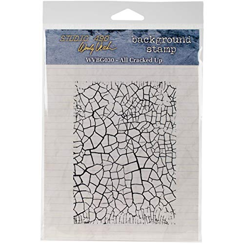 """Studio 490 Cling Stamp 5""""X5""""-All Cracked Up"""
