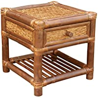 ZEW AC-041-06 Bamboo End Table, Espresso