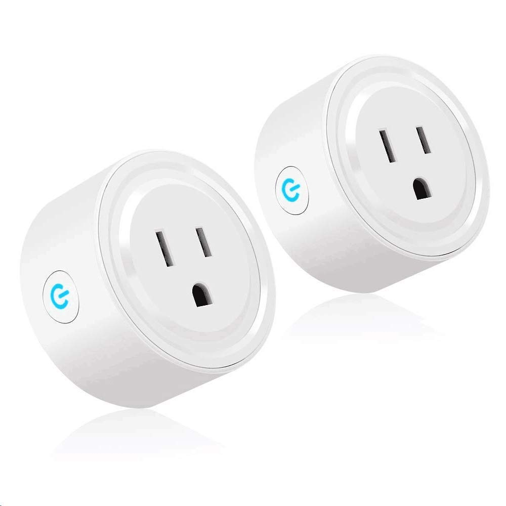 Wifi Smart Plug, Tonbux Switch Outlet Mini with Timing Function for IOS/Android, Works with Amazon Alexa & Google Home, No Hub Required, App Control Your Devices from Anywhere Anytime (2 Packs)