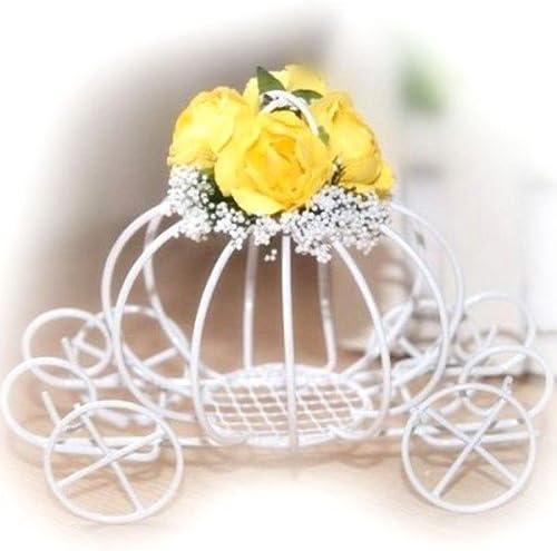 El placer de los ojos-Centro de mesa carroza de flores, color ...