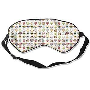Sleep Mask 100% Natural Silk Eye Mask Glittering Blindfold Cute Owls Eye Cover Unisex Ultimate Sleeping Aid Eyeshade