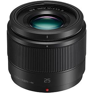 Panasonic Lumix G Lens, 25mm, F1.7 Asph., Mirrorless Micro Four Thirds, H-h025k (usa Black)