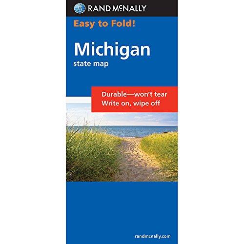 Rand McNally Easy To Fold: Michigan (Laminated) (Rand McNally Easyfinder)