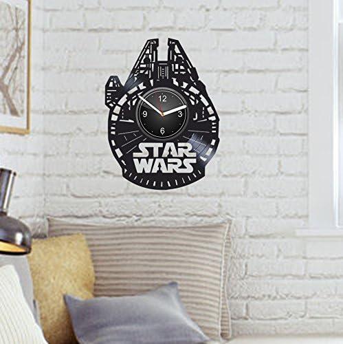 Star Wars Luke Skywalker r2-d2 Yoda Chewbacca Handmade Vinyl Wall Clock