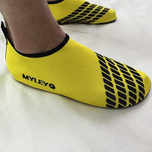 Men Women Pull-On Quick-Dry Skin Water Sports Aqua Shoes Socks Outdoor Sneaker Holey Ventilation KPU Outsole 4yellow 1vvJBZI6qQ