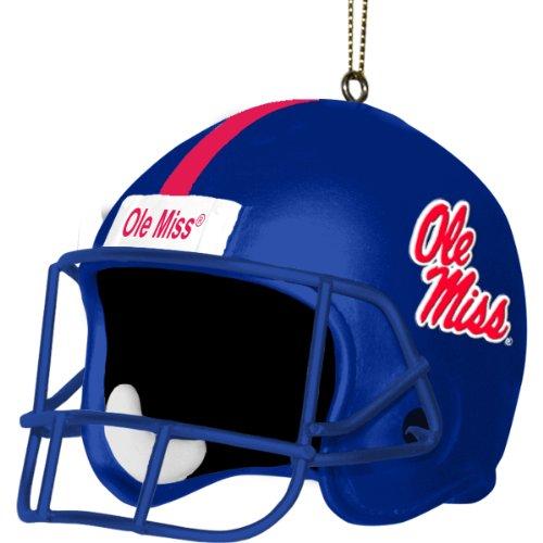Ole Miss Rebels Santa (NCAA Ole Miss Rebels 3 Inch Helmet Ornament)