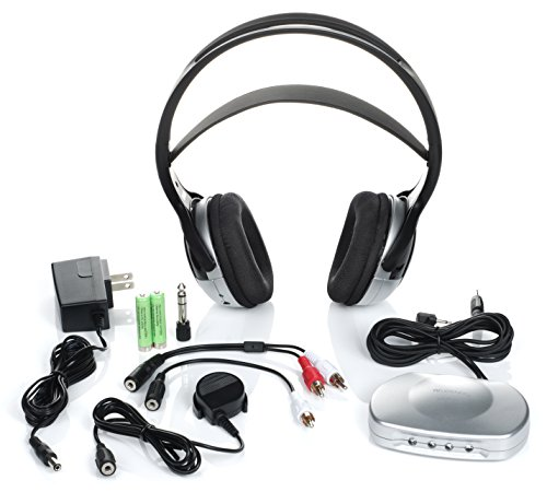 Tv Listener J3 Rechargeable Wireless Headphones for Tv Listening ()