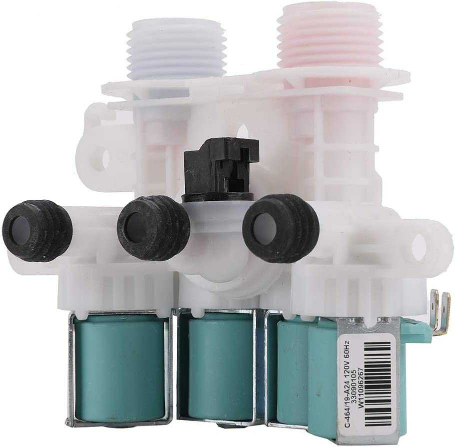 W11165546 Washer Water Inlet Valve for Whirlpool Kenmore- Replace 33090105 W10599423 W10758828 W10839828 W11096267 W11165546VP