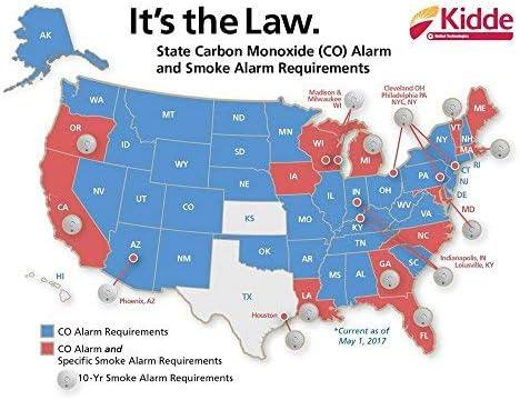 Kidde i12010S 10 Year Hardwired Smoke Alarm Ionization