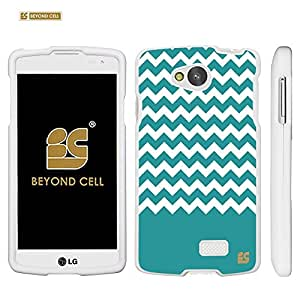 Beyond Cell ?For LG Tribute MS395/LS660/F60 (Metro PCS,Sprint,Boost Mobile,Virgin Mobile,International) Premium Protection Slim Light Weight 2 piece Snap On Non-Slip Matte Hard Shell Rubber Coated Rubberized Phone Case Cover With Design - Teal Chevron Design