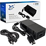AC Adapter Power Supply Cord for Xbox One, [QUIET VERSION] Xbox One Power Brick Replacement Auto Voltage100-240V, Black