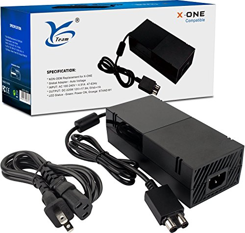 Xbox One Power Supply, AC Power Adapter for Xbox One with Cable, Replacement Xbox One Power Brick...