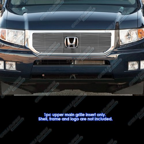 APS H66962A Polished Grille Bolt Over for select Honda RTL Crew Cab Pickup 4-Door and other Models