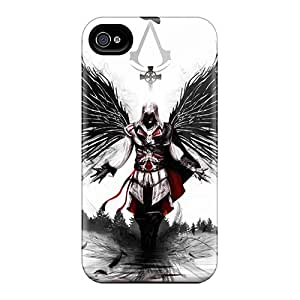 Perfect Cell-phone Hard Covers For Apple Iphone 4/4s With Provide Private Custom Stylish Assassins Creed 2 3 Image LeoSwiech