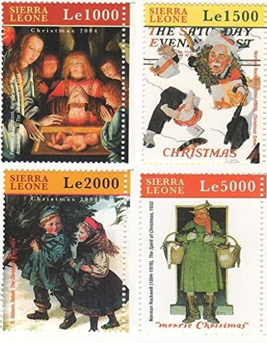 (Norman Rockwell Paintings - Famous American Artist - Beautiful Collectors Stamps - Sierra Leone)