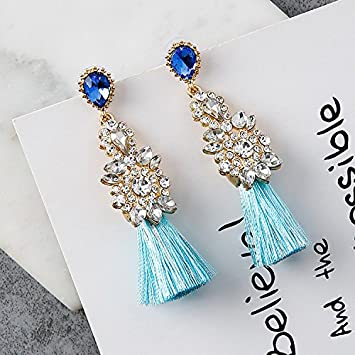 Amazon Com Korean Version Of The New Us Cents Flash Diamond T El Pendant Earrings 925 Silver Needle Earrings Ear Jewelry Temperament Short Paragraph
