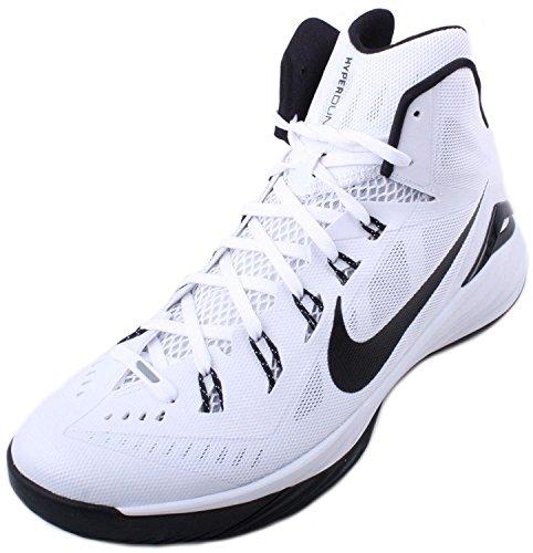 Nike Hyperdunk 2014 Tb Mens Sneakers Da Basket Bianche / Nere, Wei, 40,5 Eu / 6.5 Uk