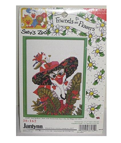 Suzy's Zoo 1997 Retired Cross Stitch Kit - Friends & Flowers 5 x 7