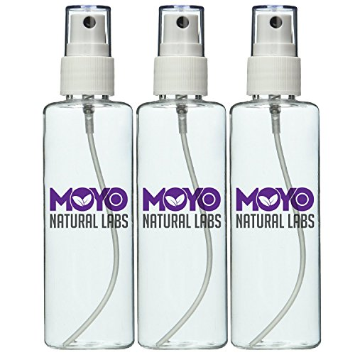 MoYo Natural Labs Large Durable Fine Mist Pump Sprayers 3.4 oz Travel Bottle Pump Sprayer Set quantity 3 BPA