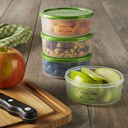 Fit & Fresh Smart Portion 1/2 Cup Chilled Containers, Set of 4