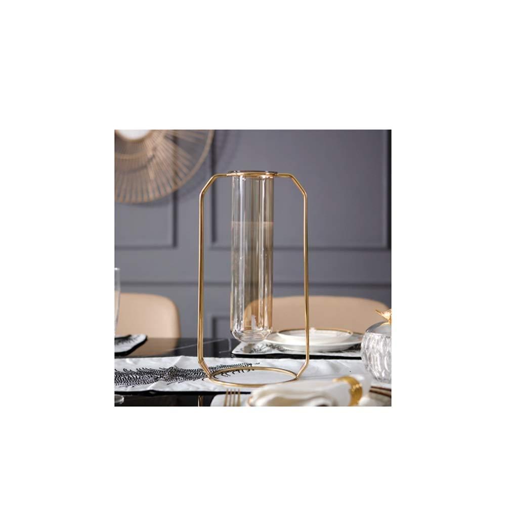 ステンレス鋼ブラケット花瓶透明ガラス花瓶水耕植物コンテナ。 QYSZYG B07S521SQX