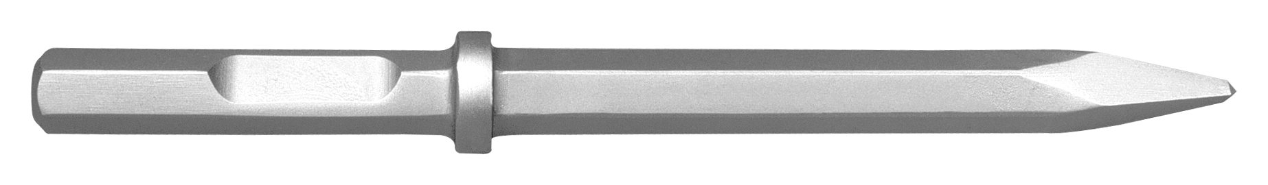 Champion Chisel, 1-1/8 by 6-Inch Hex Shank w/notch, 18-Inch Long Moil or Bull Point - Designed for 60lb & 90lb Pneumatic Hammers