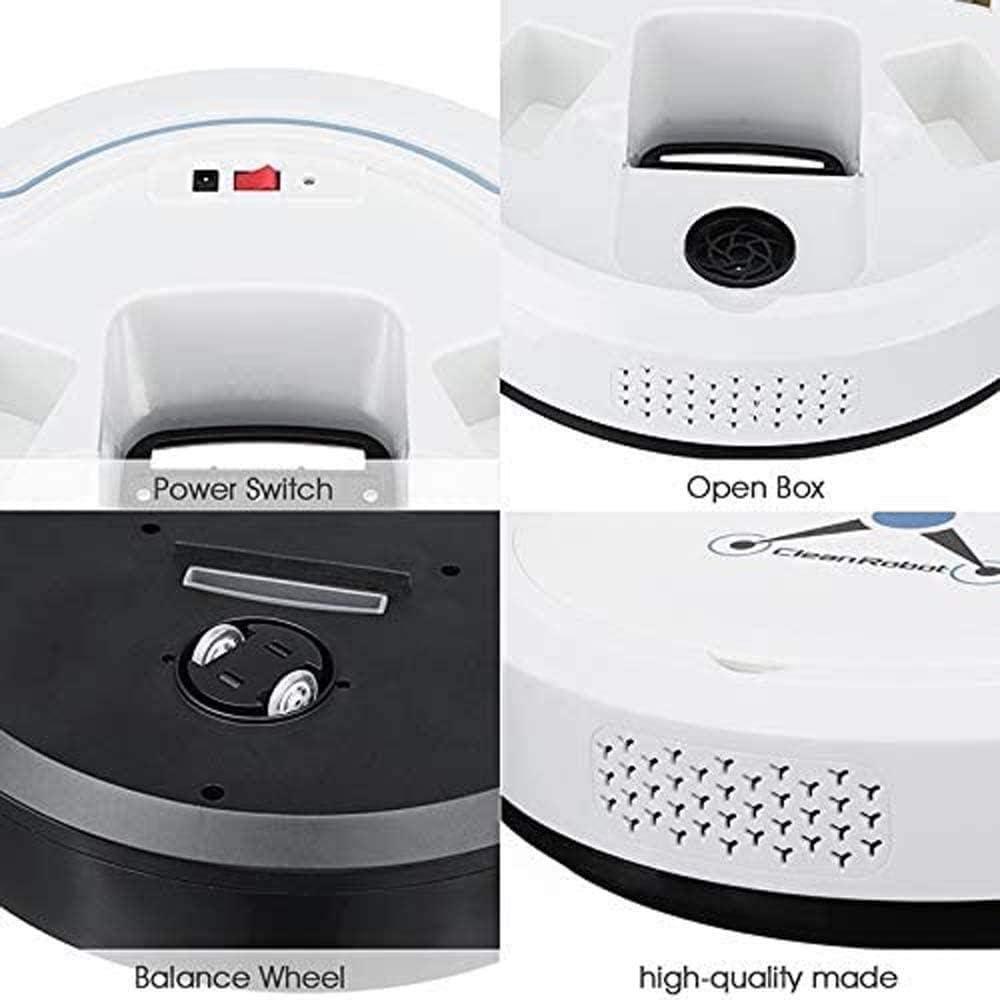 Art Jian Robot aspirateur, Robot de Balayage Intelligent aspirateur Puissant d\'aspiration Automatique ménage aspirateur Intelligent White