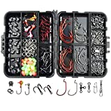 Fishing Tackle Box Kit Fishing Hooks Fishing Swivel Fishing Lures Bait Rigs Jig Fishing Assorted Color Beads